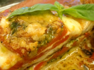 Veggie mozzarella stack
