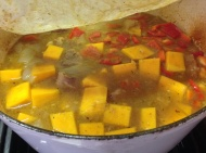 Add squash and bell peppers